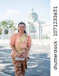 women wear thailand national...   Shutterstock . vector #1071233651