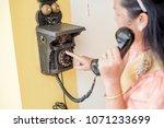 women wear thailand national...   Shutterstock . vector #1071233699