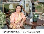 women wear thailand national...   Shutterstock . vector #1071233705