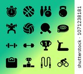 vector icon set about fitness... | Shutterstock .eps vector #1071238181