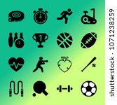vector icon set about fitness... | Shutterstock .eps vector #1071238259