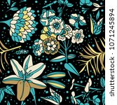 seamless floral pattern.... | Shutterstock .eps vector #1071245894