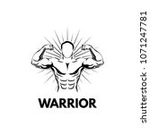 strongman  bodybuilder....   Shutterstock .eps vector #1071247781