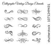swirly line curl scroll... | Shutterstock .eps vector #1071249431