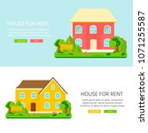 banner for sales  advertising... | Shutterstock .eps vector #1071255587