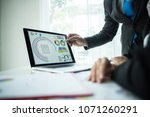 close up of business people... | Shutterstock . vector #1071260291