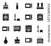 flat vector icon set   toilet... | Shutterstock .eps vector #1071260414