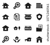flat vector icon set   house... | Shutterstock .eps vector #1071260561
