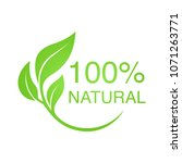 100  natural vector logo design. | Shutterstock .eps vector #1071263771