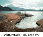 fuji mount and lake view in... | Shutterstock . vector #1071265199