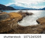 fuji mount and lake view in... | Shutterstock . vector #1071265205