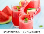 colorful refreshing drinks for... | Shutterstock . vector #1071268895