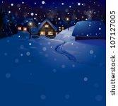 vector of winter landscape.... | Shutterstock .eps vector #107127005