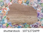 frame from different banknotes... | Shutterstock . vector #1071272699