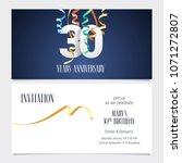 30 years anniversary invitation ... | Shutterstock .eps vector #1071272807