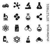 flat vector icon set   atom... | Shutterstock .eps vector #1071275831
