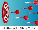 darts target. success business... | Shutterstock .eps vector #1071276185