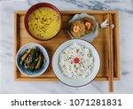 homemade japanese set meal  ...   Shutterstock . vector #1071281831