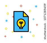 document file idea  | Shutterstock .eps vector #1071285659