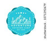 adventure badge vector logo... | Shutterstock .eps vector #1071292679