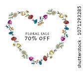 floral heart shape  banner for... | Shutterstock .eps vector #1071293285