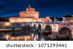 castle sant' angelo in rome | Shutterstock . vector #1071293441
