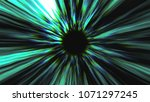 abstract black hole  time warp  ... | Shutterstock . vector #1071297245
