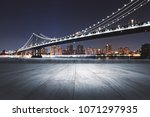 creative night city background... | Shutterstock . vector #1071297935