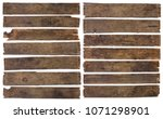 old dirty wooden plank boards... | Shutterstock . vector #1071298901