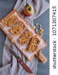 healthy homemade snacks   apple ...   Shutterstock . vector #1071307415