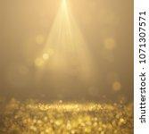 golden falling glittering dust... | Shutterstock .eps vector #1071307571