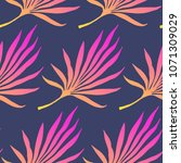 seamless pattern of tropical... | Shutterstock .eps vector #1071309029