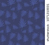 seamless pattern of tropical... | Shutterstock .eps vector #1071310031