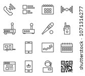 flat vector icon set   incoming ... | Shutterstock .eps vector #1071316277