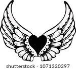 eagle wing clip art vector... | Shutterstock .eps vector #1071320297