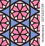 seamless pattern african... | Shutterstock .eps vector #1071322739
