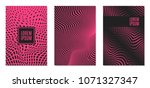 cover design templates set with ... | Shutterstock .eps vector #1071327347