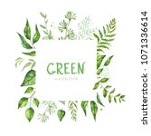 floral greenery card design.... | Shutterstock . vector #1071336614