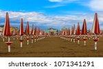 a beach on the adriatic coast...   Shutterstock . vector #1071341291