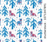 decorative seamless pattern in... | Shutterstock .eps vector #1071347891