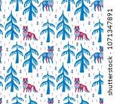 decorative seamless pattern in... | Shutterstock .eps vector #1071347891