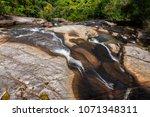 seven wells waterfalls ... | Shutterstock . vector #1071348311