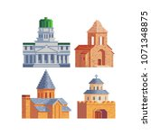 architectural buildings pixel... | Shutterstock .eps vector #1071348875