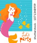 cartoon style vector card with...   Shutterstock .eps vector #1071348959