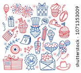 4 july. usa independence day... | Shutterstock .eps vector #1071353009