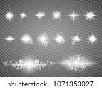 set. shining star  the sun... | Shutterstock .eps vector #1071353027