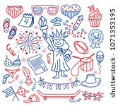 4 july. usa independence day... | Shutterstock .eps vector #1071353195