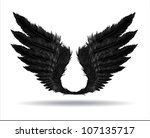 wings of darkness | Shutterstock .eps vector #107135717