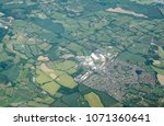aerial view of the town of... | Shutterstock . vector #1071360641
