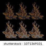 rhinestone applique pattern... | Shutterstock .eps vector #1071369101
